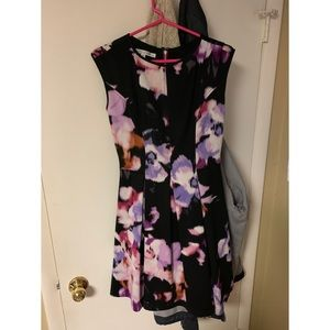 Maggy London fit and flare floral dress size 4